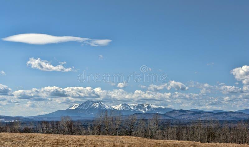 Mt Katahdin Maine photographie stock libre de droits