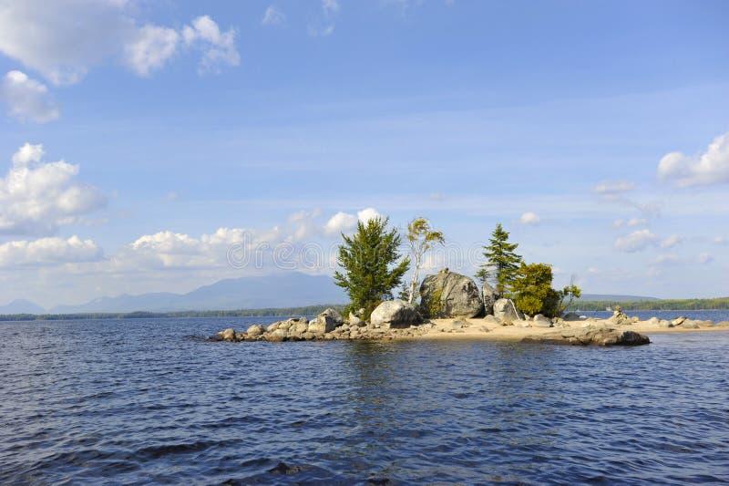 Mt Katahdin Maine Ambajejus Lake stockfoto