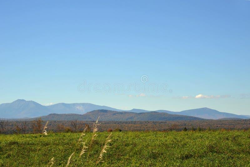 Mt. Kathdin in Maine lizenzfreie stockbilder