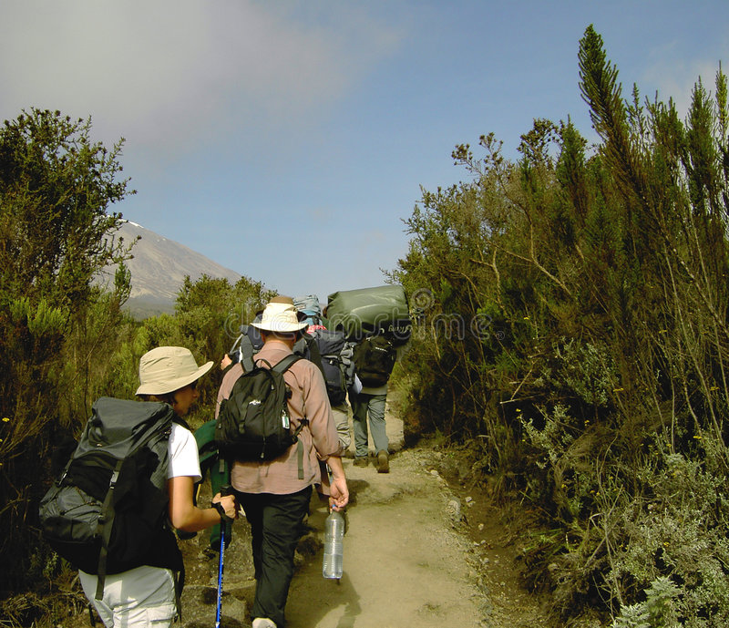 Mt.Kilimanjaro stockbilder