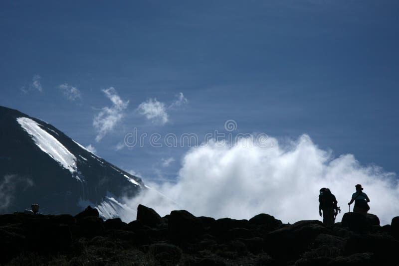 MT Kilimanjaro, Tanzania, Afrika stock afbeelding