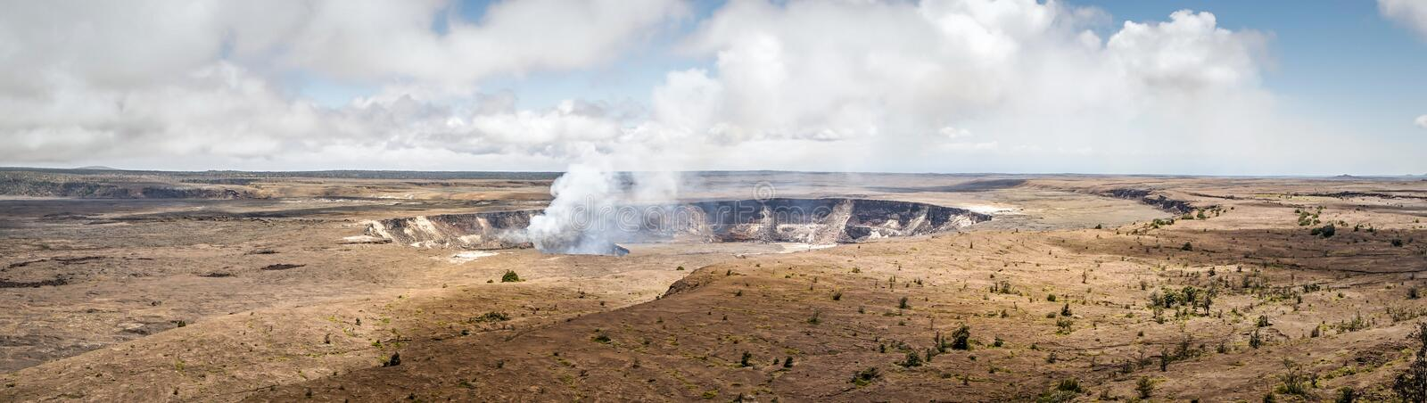 Mt. Kiluaea. The crater of Mt. Kilauea inside the large caldera. Located in Volcanoes National Park, Hawaii royalty free stock photos