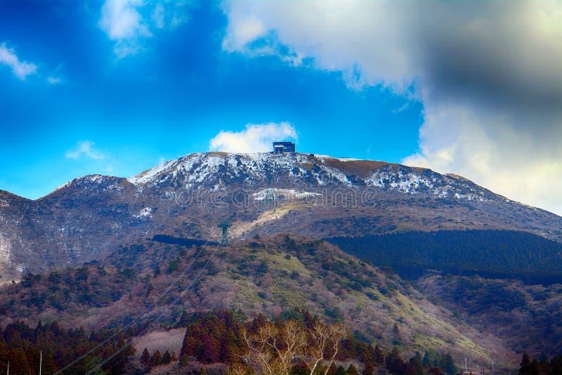 Mt Komagatake, parco nazionale diFuji-Hakone-Izu, Giappone fotografia stock libera da diritti