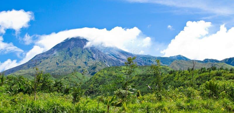 Mt krajobraz Merapi fotografia stock