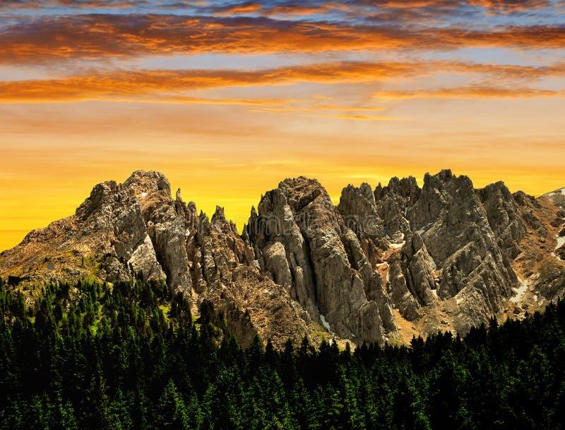 Mt Latemar royaltyfri foto