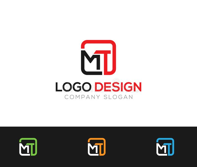 MT Letter Logo Template online store vectors illustration. This is very easy to use. U ca Use as your won simply stock illustration