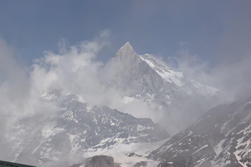 Mt Machhapuchre stockfoto