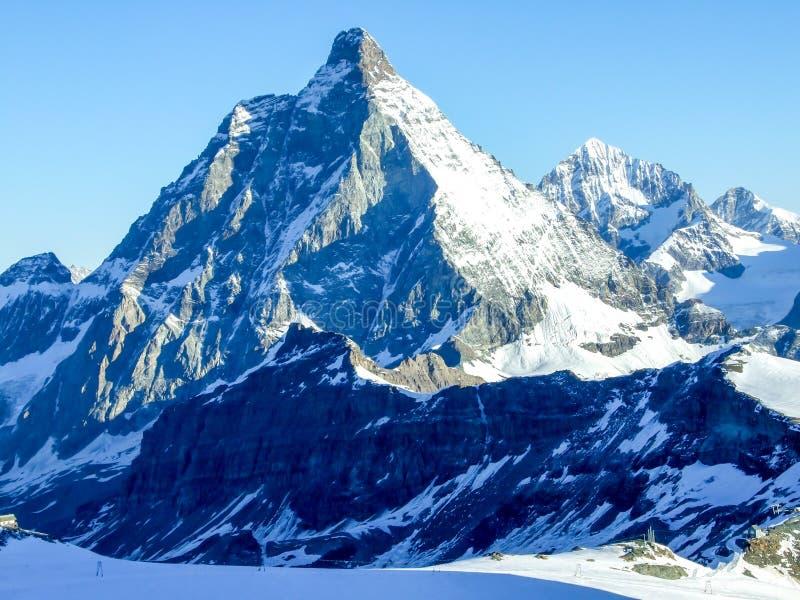 Mt. Matterhorn in the morning stock image