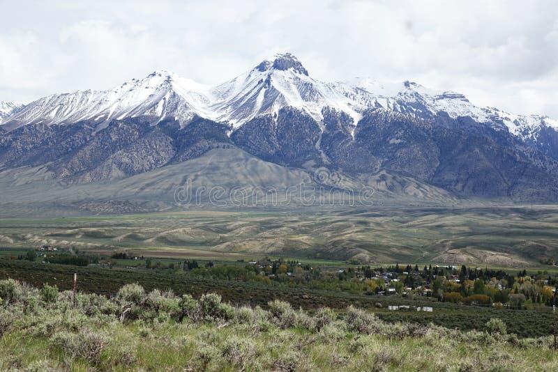 Mt McCaleb - Mackay, Idaho foto de archivo