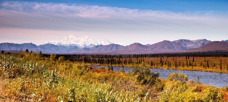 MT McKinley Alaska Noord-Amerika van de Denaliwaaier stock afbeelding