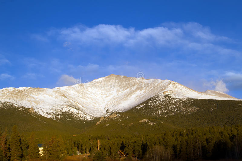 Mt Meeker in Rocky Mountain National Park stock photography