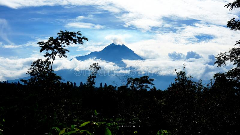 mt merapi royalty free stock images