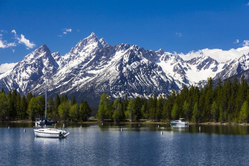 Mt Moran al grande parco nazionale di Teton, Wyoming immagini stock libere da diritti