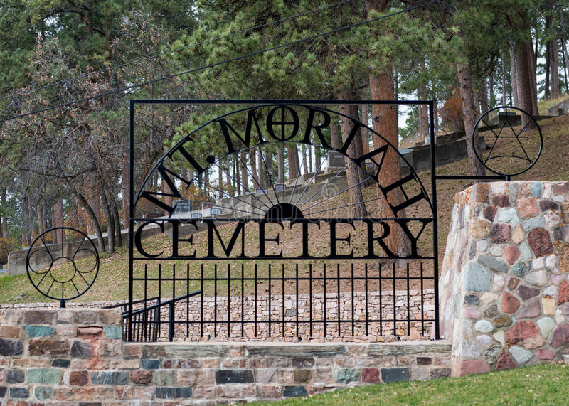 Mt Moriah kyrkogårdport royaltyfria bilder
