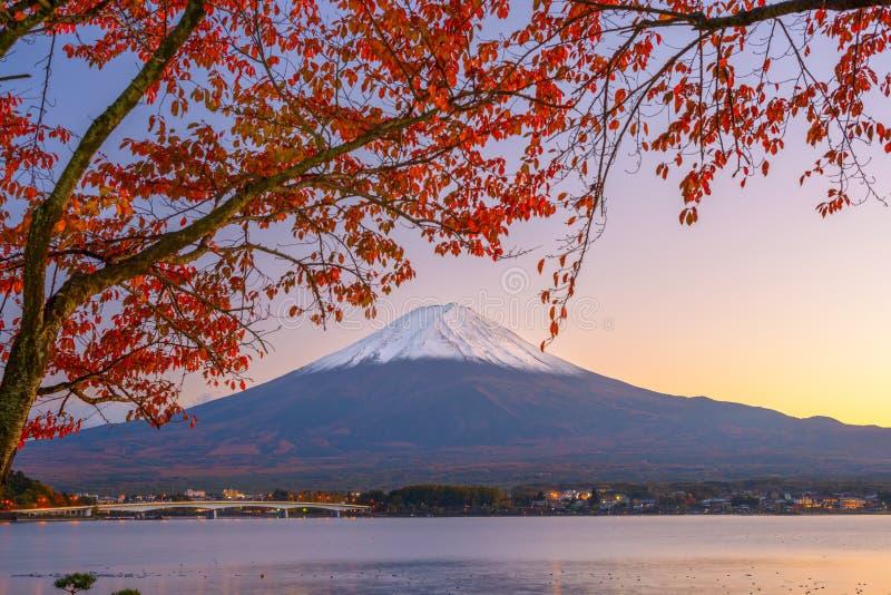 Mt Mount Fuji i höst arkivbild