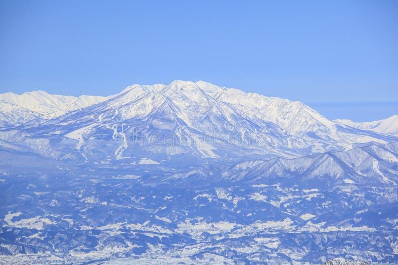 Mt Myoko в зиме стоковая фотография rf