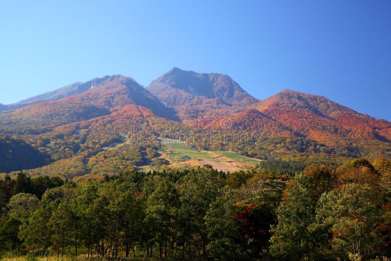 Mt. Myoko in de herfst stock afbeelding