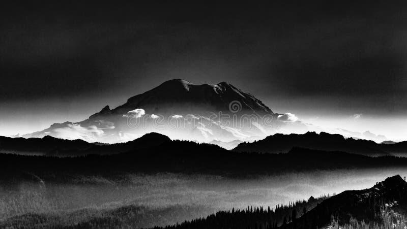 Mt mystique rainier photo libre de droits