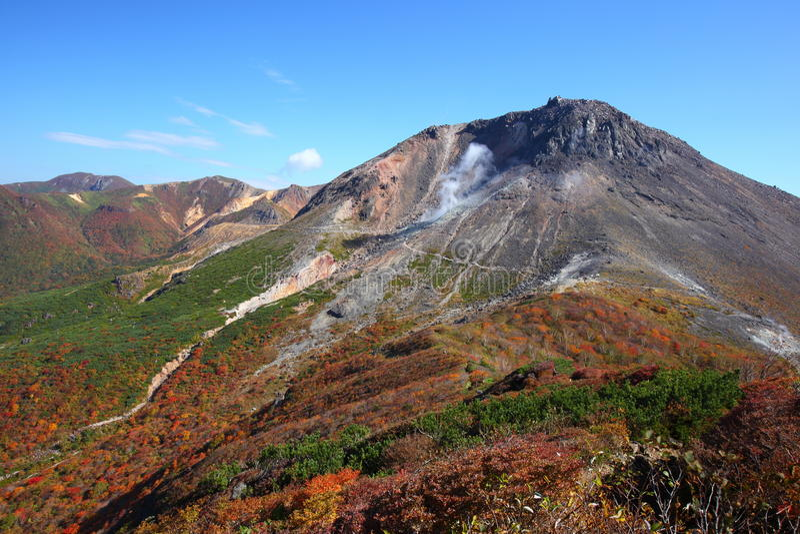 Mt. Nasudake i höst arkivfoton