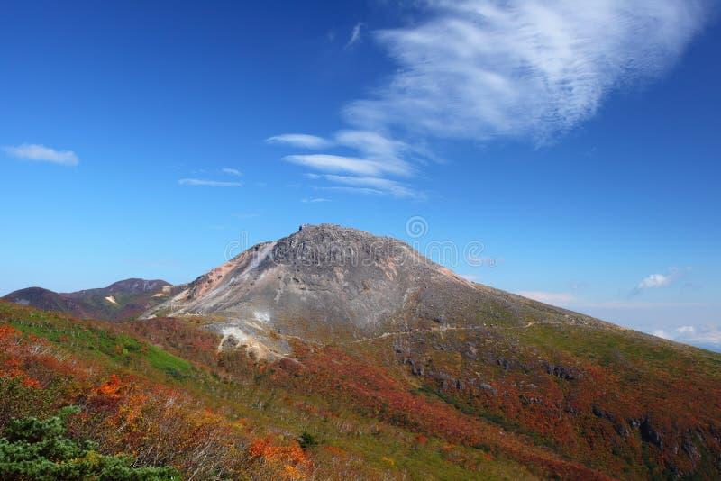 Mt. Nasudake i höst royaltyfria foton