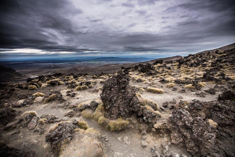 Mt Ngauruhoe i den Tangariro nationalparken NZ arkivfoton