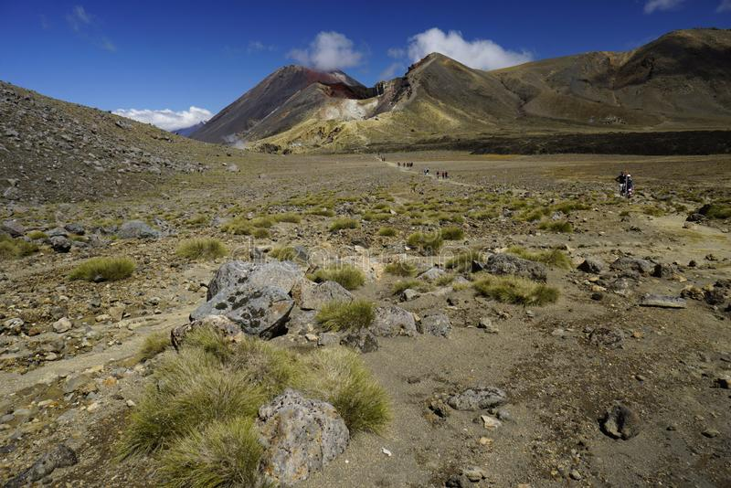 Mt. Ngauruhoe in New Zealand. Mount Ngauruhoe is active Vulcano and was used as a stand in for the fictional Mt. Doom in the Lord of the Rings film trilogy stock photos