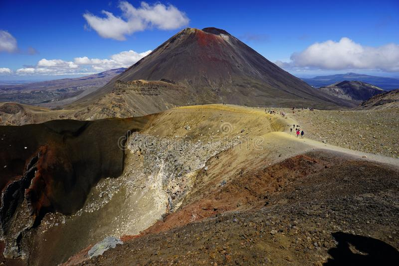 Mt. Ngauruhoe in New Zealand. Mount Ngauruhoe is active Vulcano and was used as a stand in for the fictional Mt. Doom in the Lord of the Rings film trilogy stock images