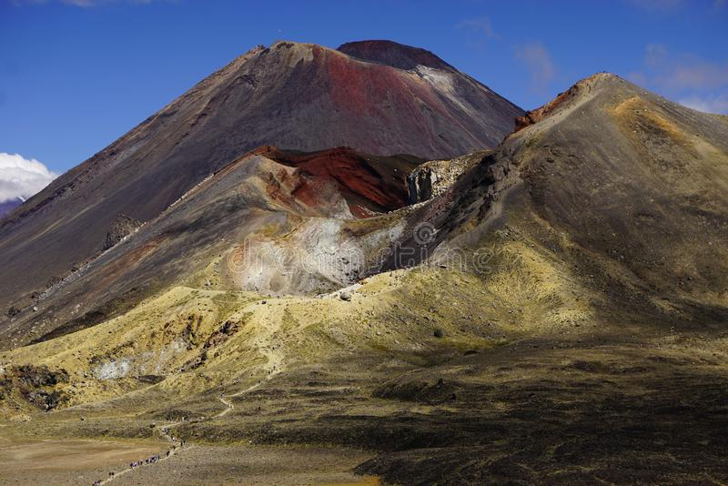 Mt. Ngauruhoe in New Zealand. Mount Ngauruhoe is active Vulcano and was used as a stand in for the fictional Mt. Doom in the Lord of the Rings film trilogy royalty free stock photography
