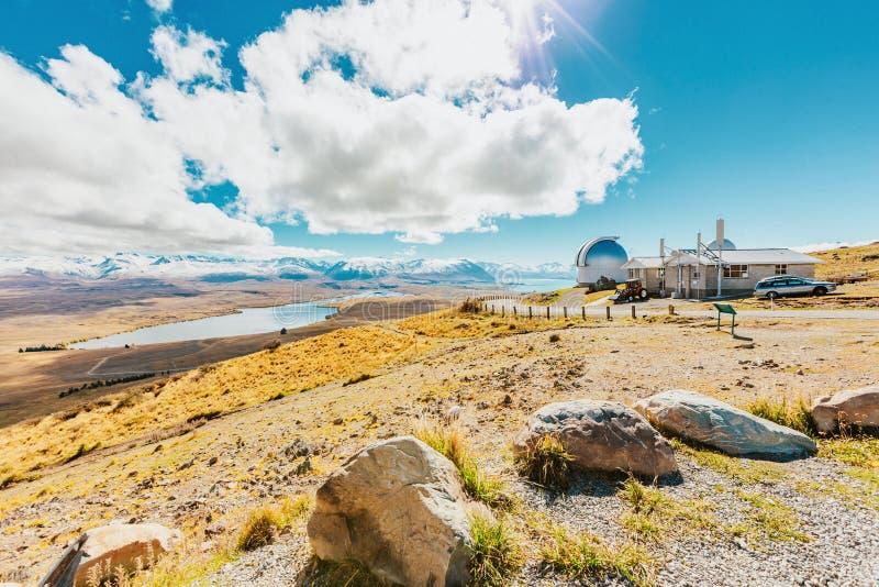 Mt observatoire de John chez le Nouvelle-Zélande images libres de droits
