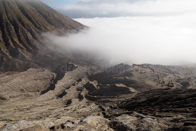 Mt Opinião de Bromo fotos de stock royalty free