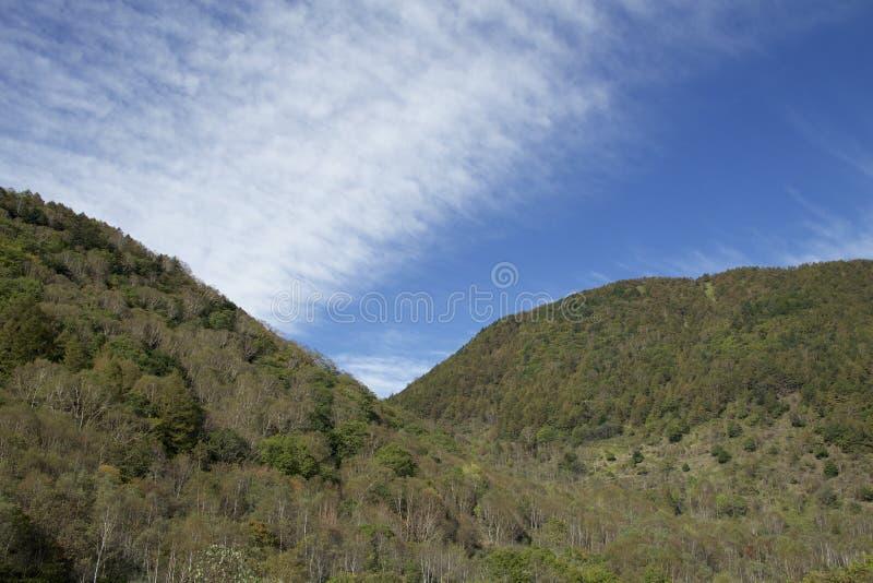 Mt Paisagem de Sajiki em Japão fotos de stock