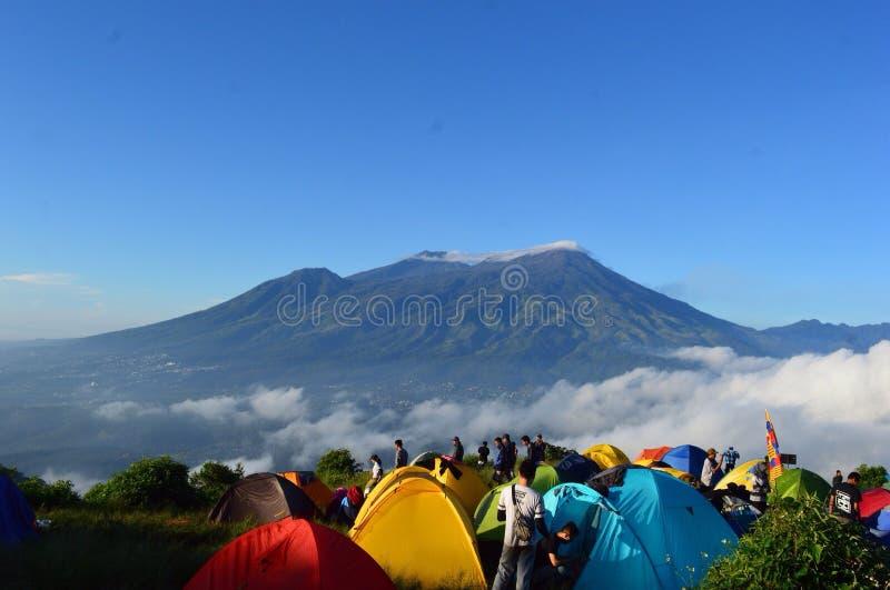 Mt Penanggungan, Индонезия стоковое фото