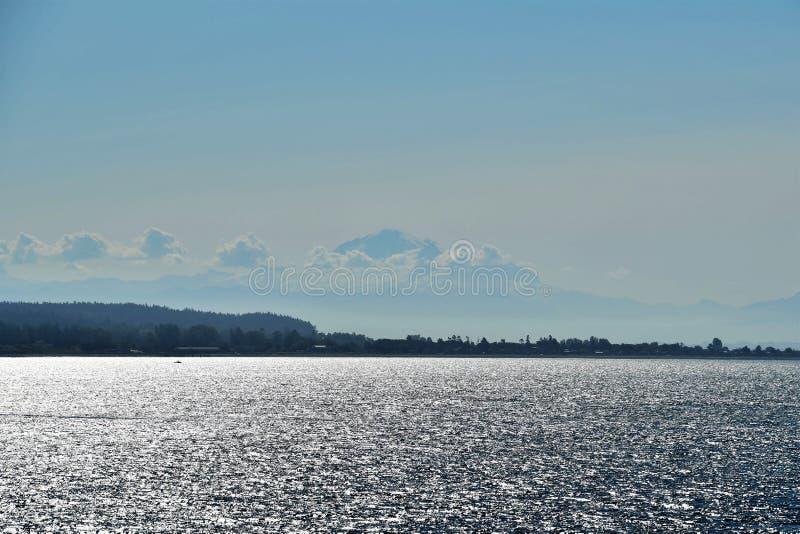 Mt Piekarz na ranku morzu zdjęcia royalty free