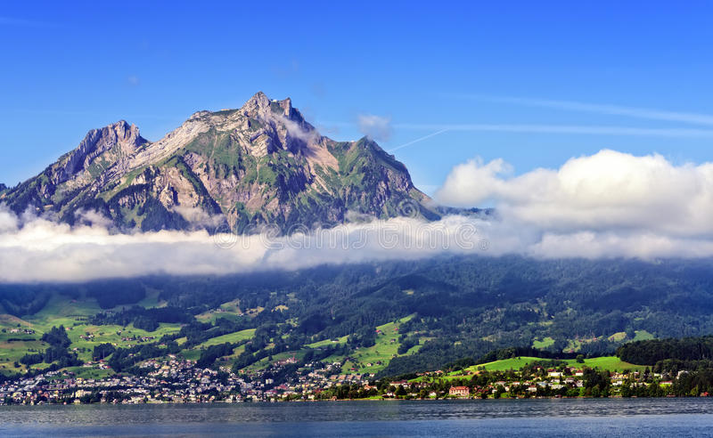 Mt Pilatus i Lucerne arkivbild