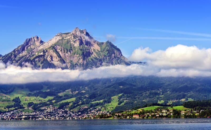Mt. Pilatus in Lucerne stock photography