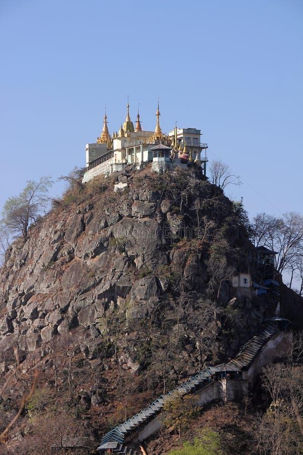 Mt Popa 免版税库存照片