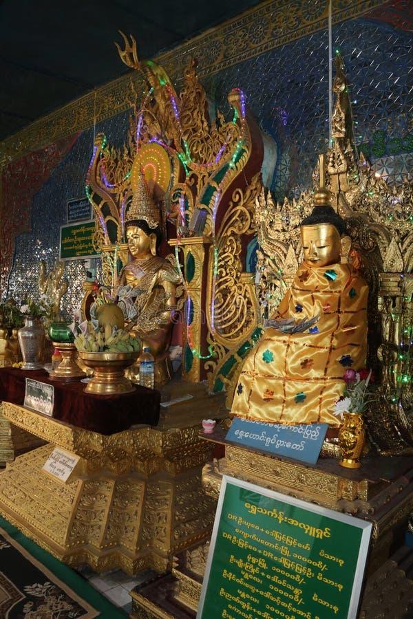 Popa Taungkalat Shrine - Mt popa - Myanmar stock images