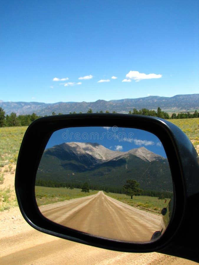 Mt. Princeton dans le Rearview photo stock