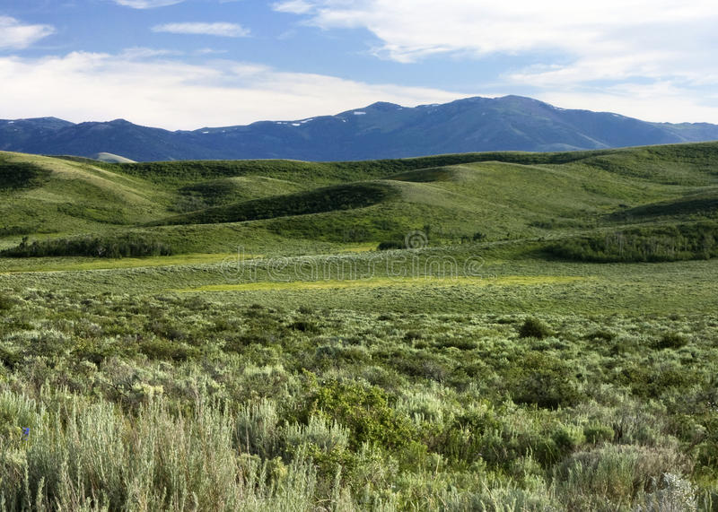 Mt. Putnam. View if Mt. Putnam on the Fort Hall Indian Reservation, Idaho stock photos