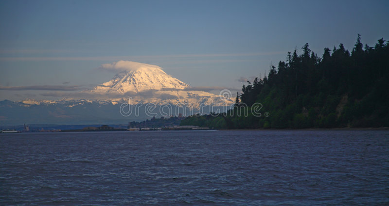 mt rainer fotografia stock