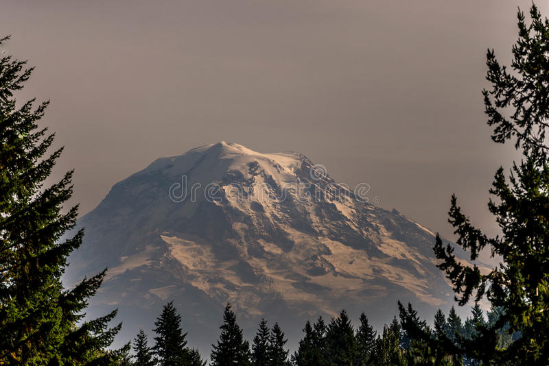Mt rainer fotografie stock