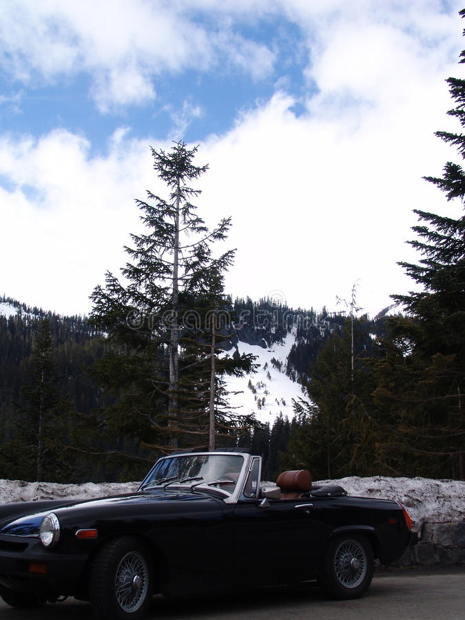Download Mt. Rainer Washington stock photo. Image of convertible - 48991932