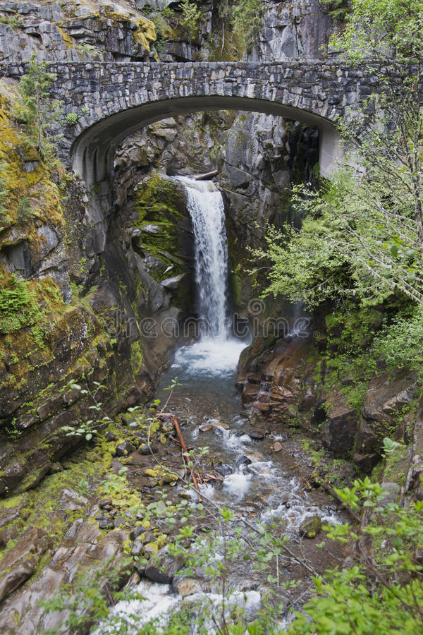 Mt Rainer Waterfall royalty free stock images