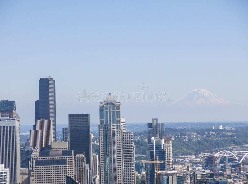Mt Rainier Seattle foto de stock