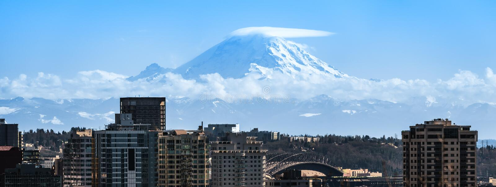 Mt Rainier at Seattle. An image of Mt Rainier at Seattle royalty free stock photography
