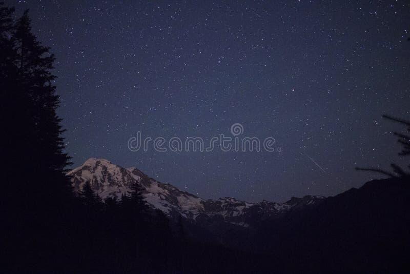 Mt Rainier Stars royaltyfria bilder
