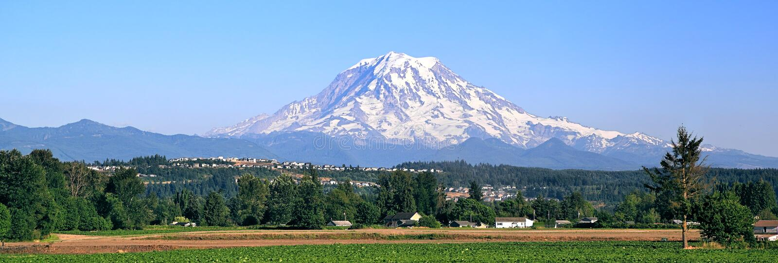 Mt Rainier. In the state of Washington stock photography