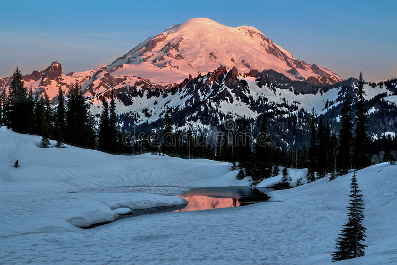 Mt. Rainier Tipsoo Lake, Washington State royalty free stock image