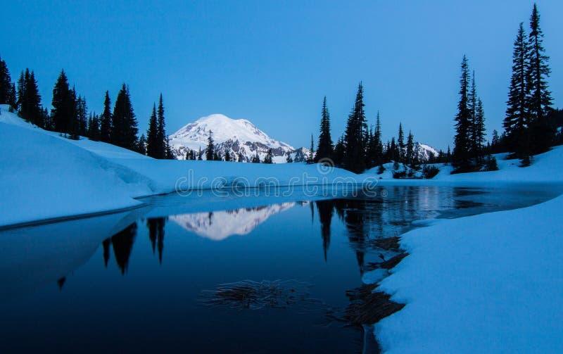 Mt. Rainier, Tipsoo Lake, Washington State royalty free stock photos