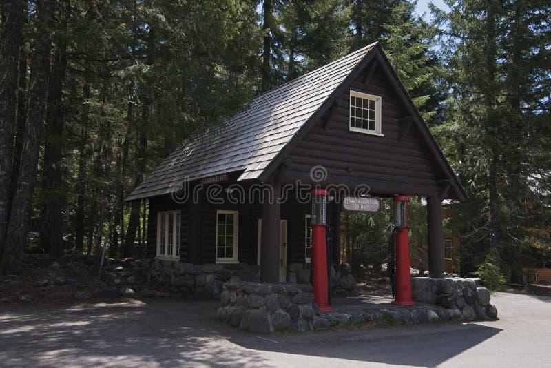 Mt Ranier Historic Gas Station stock image